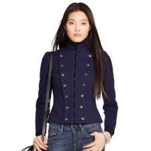 Polo Ralph Lauren navy military fitted blazer